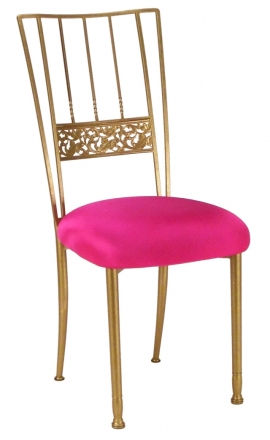 Gold Bella Fleur with Hot Pink Stretch Knit Cushion (2)