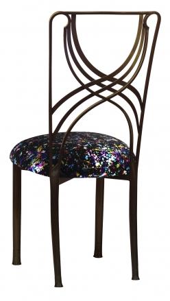Bronze La Corde with Black Paint Splatter Stretch Knit Cushion (1)