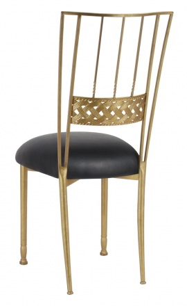 Gold Bella Braid with Black Leatherette Cushion (1)