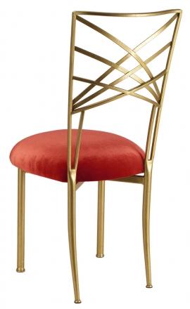 Gold Fanfare with Paprika Velvet Cushion (1)