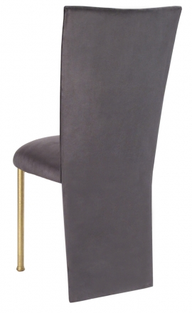 Charcoal Suede Jacket and Cushion on Gold Legs (1)