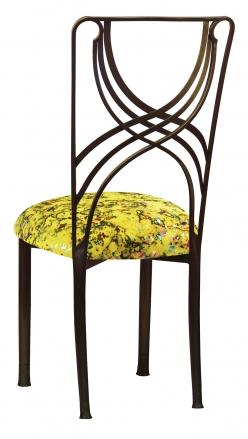 Bronze La Corde with Yellow Paint Splatter Stretch Knit Cushion (1)