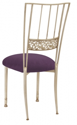 Ivory Bella Fleur with Lilac Suede Cushion (1)