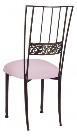 Mahogany Bella Fleur with Soft Pink Velvet Cushion (1)
