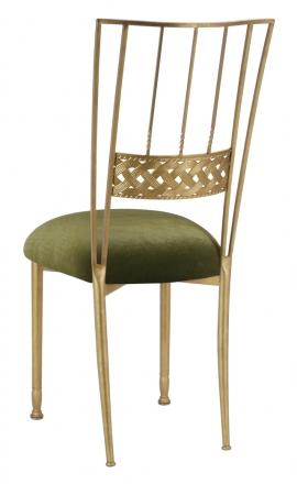 Gold Bella Braid with Olive Velvet Cushion (1)