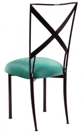 Blak. with Turquoise Velvet Cushion (1)