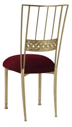 Gold Bella Braid with Cranberry Velvet Cushion (1)
