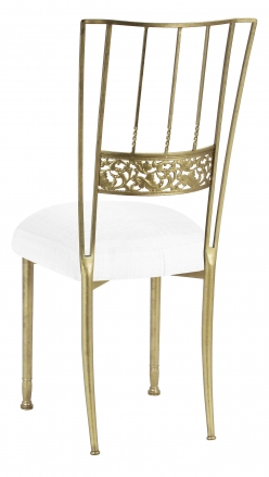 Gold Bella Fleur with White Linette Boxed Cushion (1)