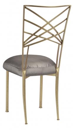Gold Fanfare with Charcoal Taffeta Boxed Cushion (1)