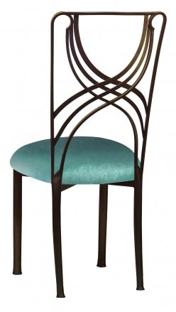Bronze La Corde with Turquoise Velvet Cushion (1)
