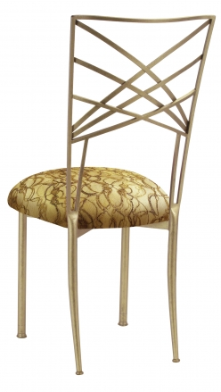 Gold Fanfare with Gold Lace over Gold Knit Cushion (1)