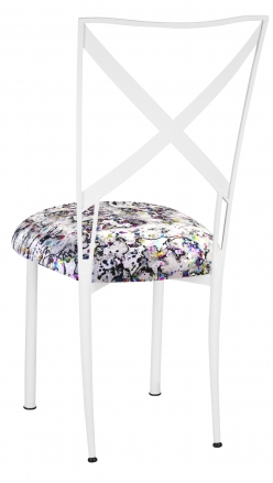 Simply X White with White Paint Splatter Cushion (1)