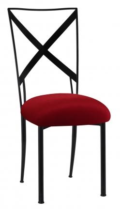 Blak. with Red Velvet Cushion (2)
