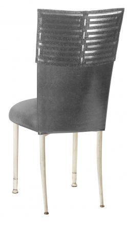Head Dress with Gunmetal Stretch Knit Cushion on Ivory Legs (1)
