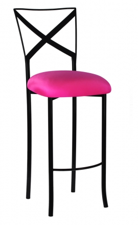 Barstool with Hot Pink Stretch Knit Cushion 2