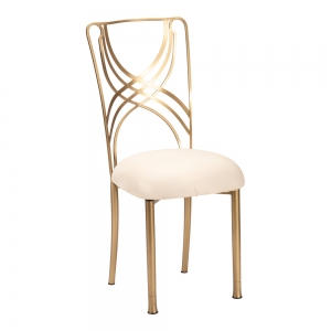 Gold La Corde with Champagne Metallic Knit Cushion (2)