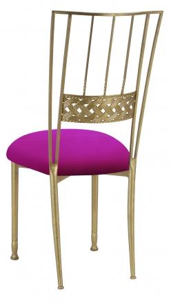 Gold Bella Braid with Magenta Stretch Knit Cushion (1)