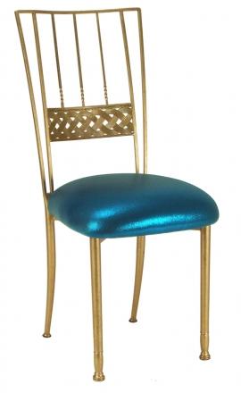Gold Bella Braid with Metallic Teal Cushion (2)