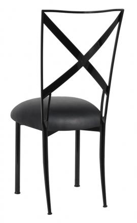 Blak. with Black Leatherette Cushion (1)