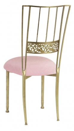 Gold Bella Fleur with Pink Sparkle Velvet Cushion (1)