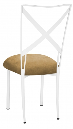 Simply X White with Camel Suede Cushion (1)