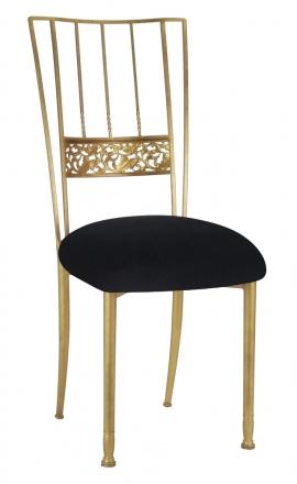 Gold Bella Fleur with Black Velvet Cushion (2)