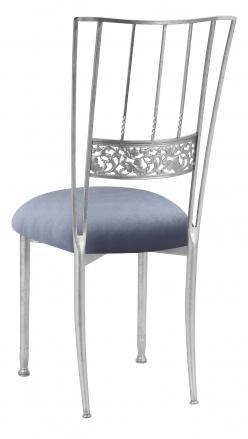 Silver Bella Fleur with Steel Velvet Cushion (1)