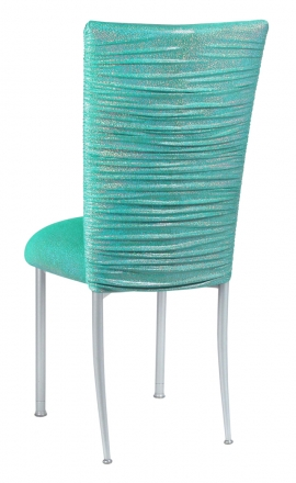 Chloe Mermaid Stretch Knit Chair Cover and Cushion on Silver Legs (1)