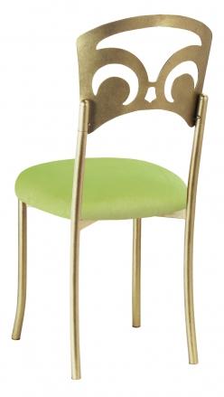 Gold Fleur de Lis with Lime Velvet Cushion (1)