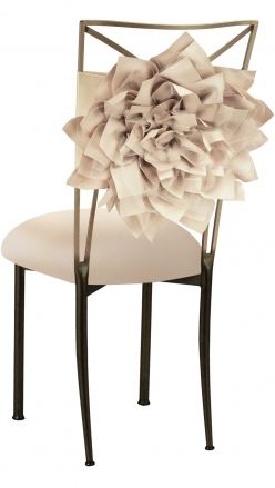 Champagne Bloom with Buttercream Knit Cushion on Brown Legs (1)