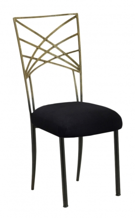 Two Tone Gold Fanfare with Black Suede Cushion (2)