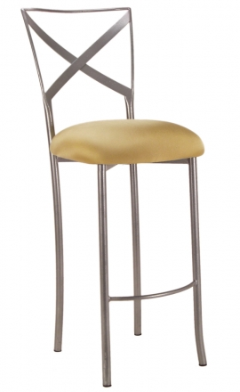 Simply X Barstool with Gold Stretch Knit Cushion (2)