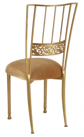 Gold Bella Fleur with Gold Velvet Cushion (1)