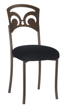 Bronze Fleur de Lis with Black Velvet Cushion (2)