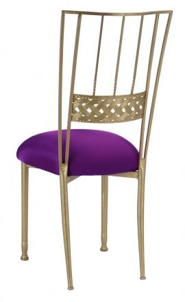 Gold Bella Braid with Plum Stretch Knit Cushion (1)