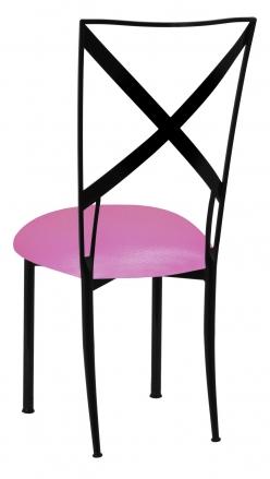 Blak. with Pink Glitter Knit Cushion (1)