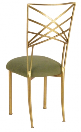Gold Fanfare with Sage Suede Cushion (1)