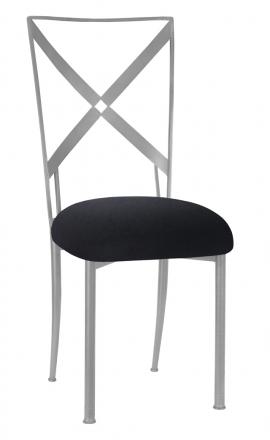 Simply X with Black Velvet Cushion (2)
