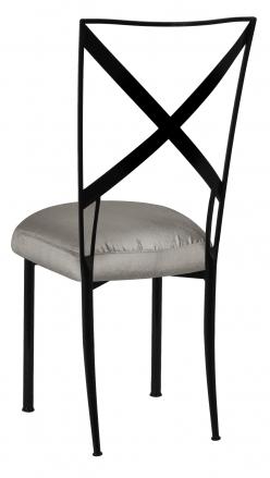 Blak. with Charcoal Taffeta Boxed Cushion (1)