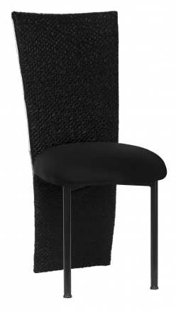Metropolis with Black Stretch Knit Cushion on Black Legs (2)