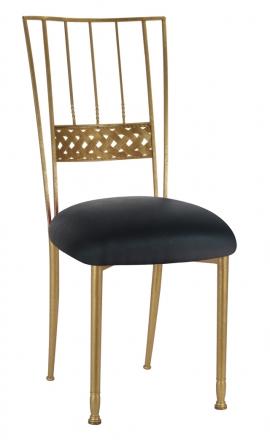 Gold Bella Braid with Black Leatherette Cushion (2)