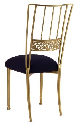 Gold Bella Fleur with Black Stretch Knit Cushion (1)