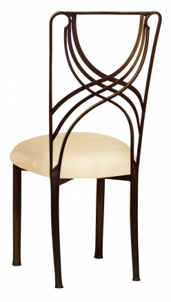 Bronze La Corde with Champagne Metallic Knit Cushion (1)