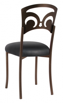 Bronze Fleur de Lis with Black Leatherette Cushion (1)