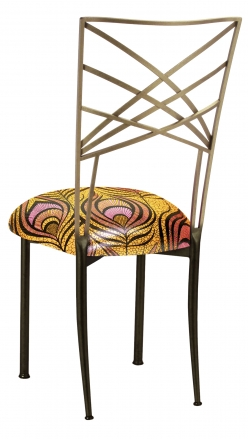 Two Tone Fanfare with Yellow and Pink Peacock Cushion (1)