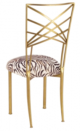 Gold Fanfare with Zebra Stretch Knit Cushion (1)