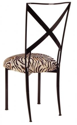 Blak. with Zebra Stretch Knit Cushion (1)