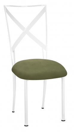 Simply X White with Sage Suede Cushion (2)