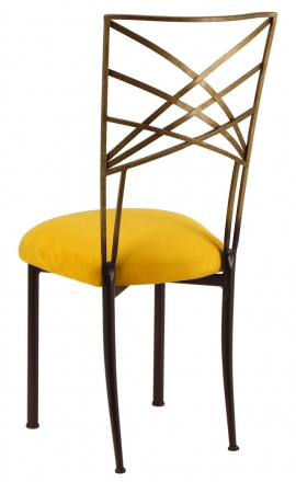 Two Tone Gold Fanfare with Canary Suede Cushion (1)