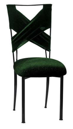Green Velvet Sweetheart with Green Velvet Cushion on Black Legs  (2)